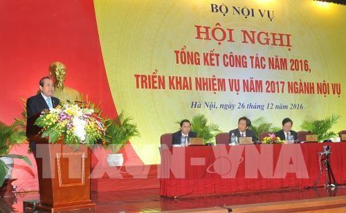 越南政府常务副总理张和平出席内务部门工作总结会议 hinh anh 1