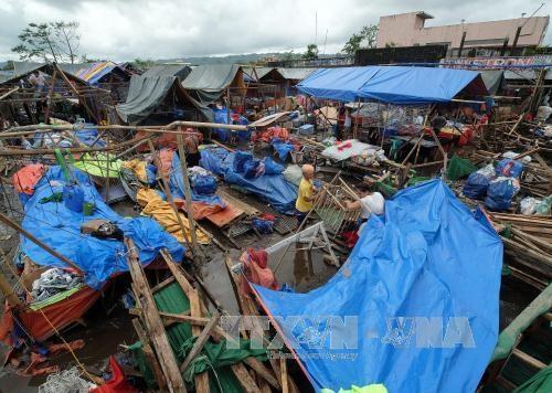 """台风""""洛坦""""袭击菲律宾造成至少3人死亡 hinh anh 1"""
