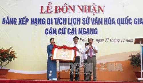 越南永隆省盖横抗战基地正式被列入国家级遗址名录 hinh anh 1