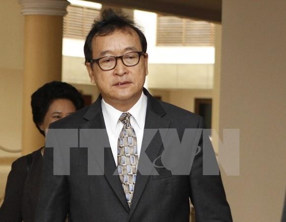 柬埔寨金边初级法院判处反对党救国党领袖桑兰西有期徒刑五年 hinh anh 1