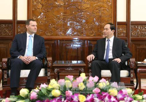 越南国家主席陈大光会见捷克驻越大使马丁 hinh anh 1