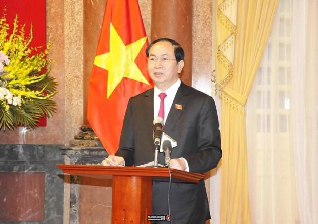 越南国家主席陈大光致信祝贺安全调查力量 hinh anh 1