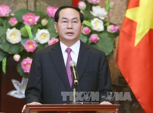 越南国家主席陈大光:继续坚定未来的发展道路 hinh anh 1