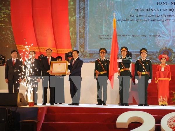 越南北件省重建20周年纪念典礼隆重举行 hinh anh 1