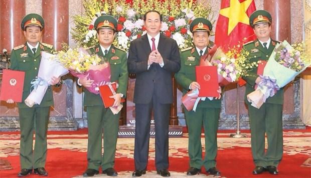 越南人民军4位中将晋升上将军衔 hinh anh 1