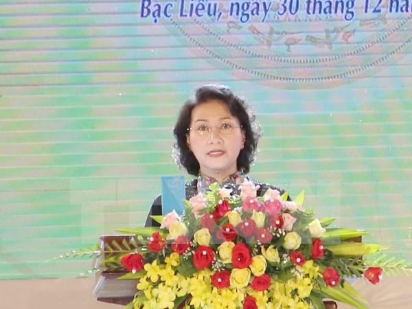 越南国会主席阮氏金银出席薄辽省重新成立20周年纪念典礼 hinh anh 1