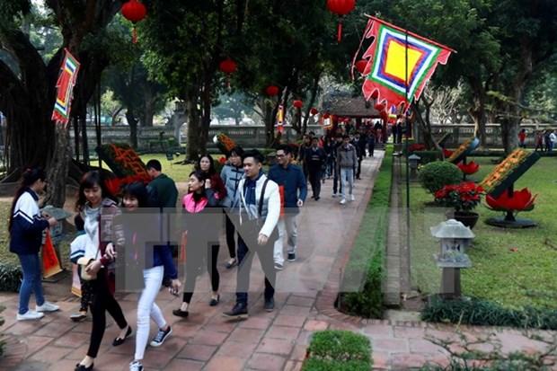 2017年元旦节假期河内接待游客量超过20万人次 hinh anh 1