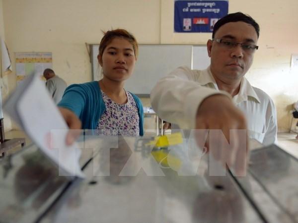 柬埔寨公布选民电子注册名单 hinh anh 1
