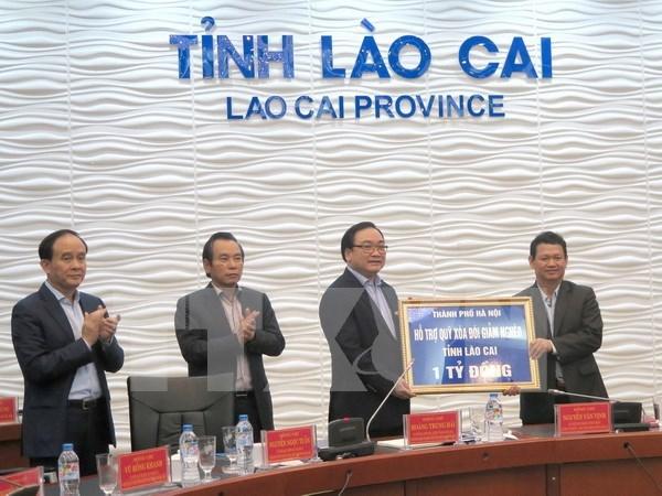 河内市与老街和莱州两省加强合作 hinh anh 1