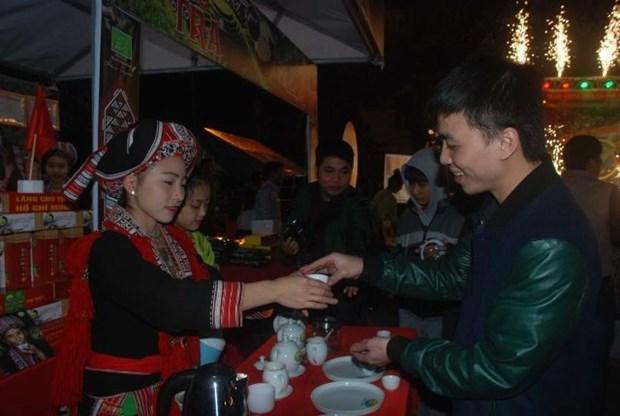 有机茶——河江省黄树腓县实现减贫的农作物 hinh anh 1