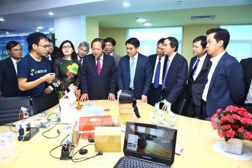 河内信息技术创新企业孵化园正式揭牌成立 hinh anh 1