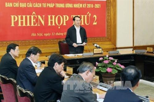 陈大光主席:致力建立透明化、民主化和逐步现代化的司法体制 hinh anh 1