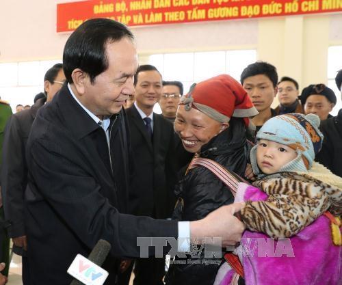 国家主席陈大光走访慰问老街省优抚家庭及贫困户 hinh anh 1