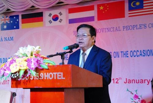 河南省举行2017年外资企业新年见面会 hinh anh 1