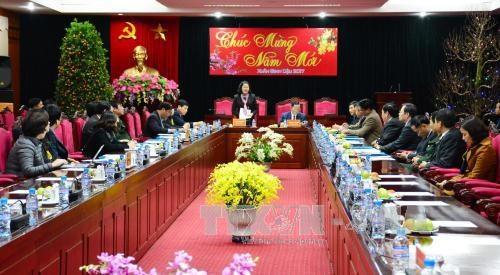 国家副主席邓氏玉盛与山罗省领导举行工作会谈 hinh anh 1