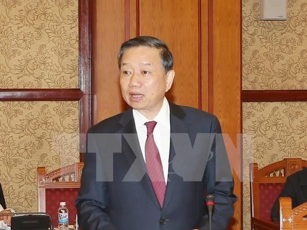 越南公安部部长苏林会见中国国家安全部部长 hinh anh 1