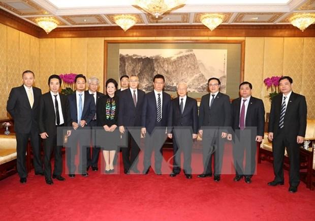 阮富仲总书记:越南愿为中国企业对越投资创造便利 hinh anh 1