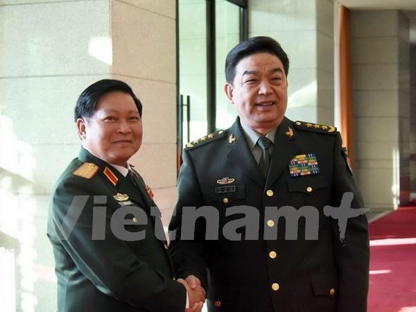 越中两国国防部致力推动两国关系迈上新台阶 hinh anh 1