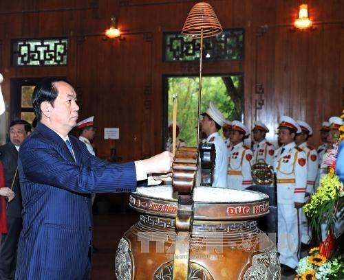 国家主席陈大光春节前赴乂安省看望慰问困难群众 hinh anh 1
