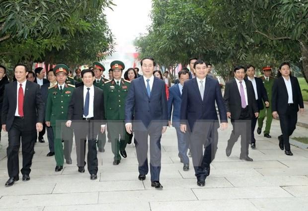 国家主席陈大光春节前走访慰问第四军区司令部并拜年 hinh anh 1