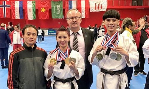 越南跆拳道队在法国夺得4枚金牌 hinh anh 1