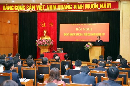越共中央办公厅举行2016年工作总结暨2017年任务部署会议 hinh anh 1