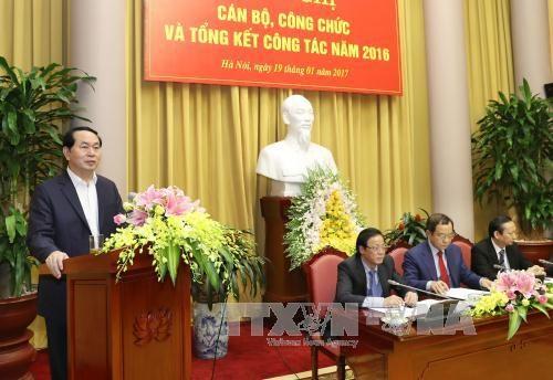 陈大光主席:进一步提高国家主席办公厅参谋工作质量 hinh anh 1
