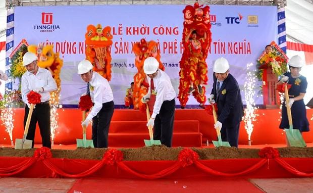年产量达3200万吨的速溶咖啡生产厂在同奈省兴建 hinh anh 1