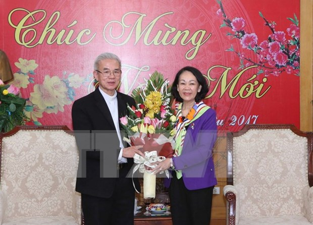 越共中央民运部部长会见来访的宗教代表团 hinh anh 1