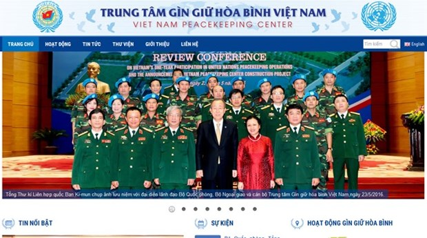 越南维和力量门户网站正式开通 hinh anh 1