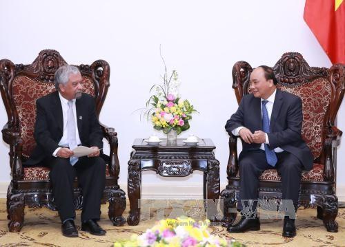 越南政府总理阮春福接受联合国开发计划署驻越代表递交委任书 hinh anh 1