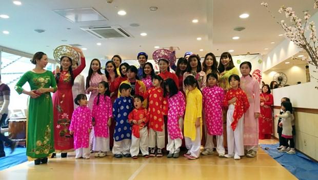 旅居日本神户市越南人举行喜迎2017年丁酉春节活动 hinh anh 1