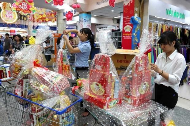 春节前胡志明市生活必需品价格保持平稳 年货价格略增 hinh anh 1