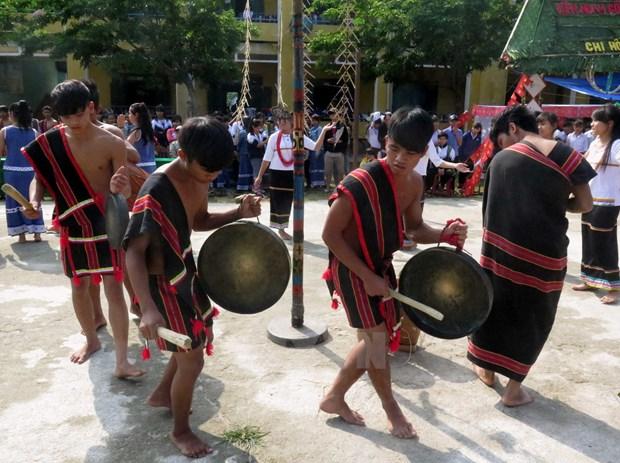 越南广义省努力保护与弘扬赫耶族锣钲文化空间 hinh anh 1