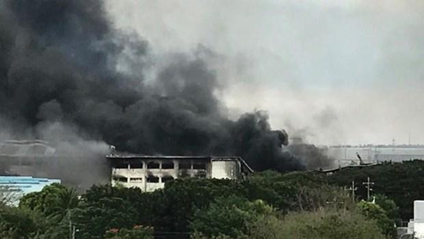 菲律宾一家工厂发生火灾 逾百人受伤 hinh anh 1