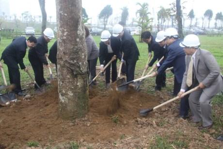 河内市市委书记黄忠海呼吁首都居民积极参加植树活动 hinh anh 1
