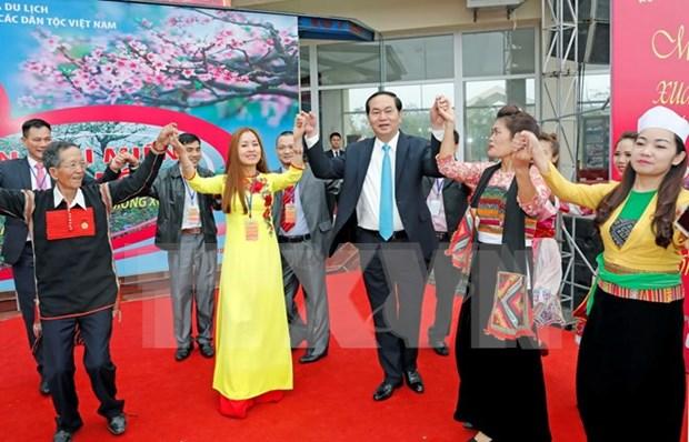 国家主席陈大光:继续保护并弘扬民族传统文化 hinh anh 1