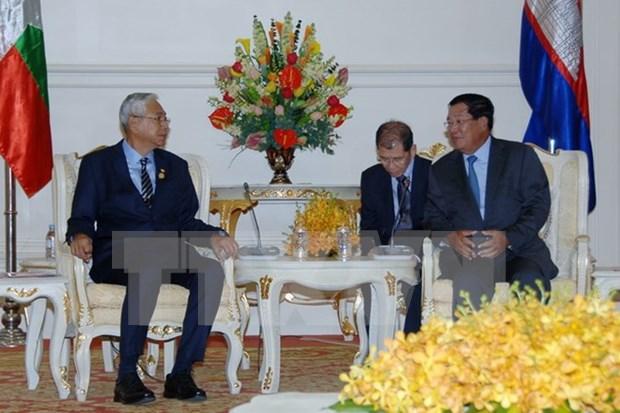 柬埔寨与缅甸加强合作关系 hinh anh 1