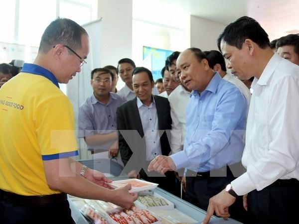 阮春福总理:力争实现2025年前虾类出口总额达100亿美元的目标 hinh anh 1