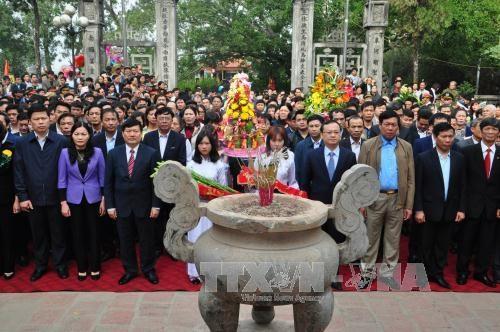范五老将军出征抗敌742周年纪念典礼暨扶拥庙会开庙仪式在兴安省举行 hinh anh 1