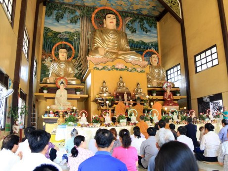 设在老挝的越南庞龙寺举行大典祈求国泰民安 hinh anh 1