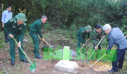 越南得农省与柬埔寨蒙多基里省辅助界碑立碑工作正式启动 hinh anh 1