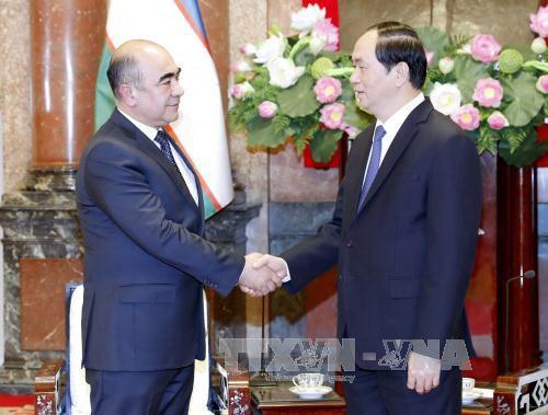 越南国家主席陈大光:应充分挖掘越南与乌兹别克斯坦的合作潜力 hinh anh 1