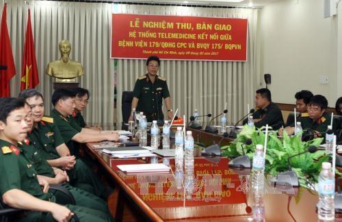 越南人民军援建柬埔寨军队医院远程医疗系统投入使用 hinh anh 1