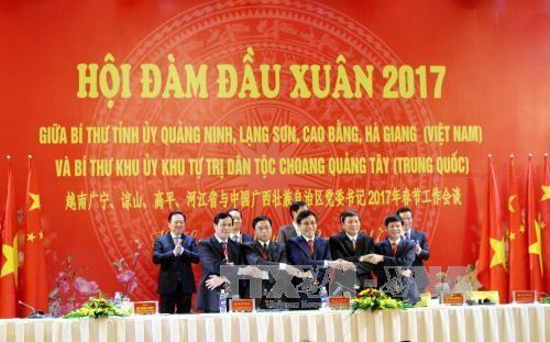 越南边界四省与中国广西壮族自治区加强全面合作关系 hinh anh 1