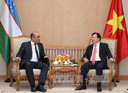 越南与乌兹别克斯坦进一步加强在各领域的合作 hinh anh 1