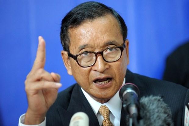 柬埔寨二审法院保持金边市一审法院对救国党主席桑兰西所作出的裁决 hinh anh 1