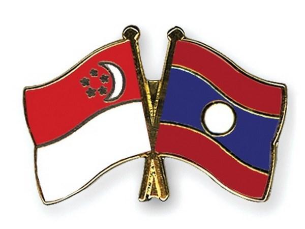 老挝外长对新加坡进行访问 hinh anh 1