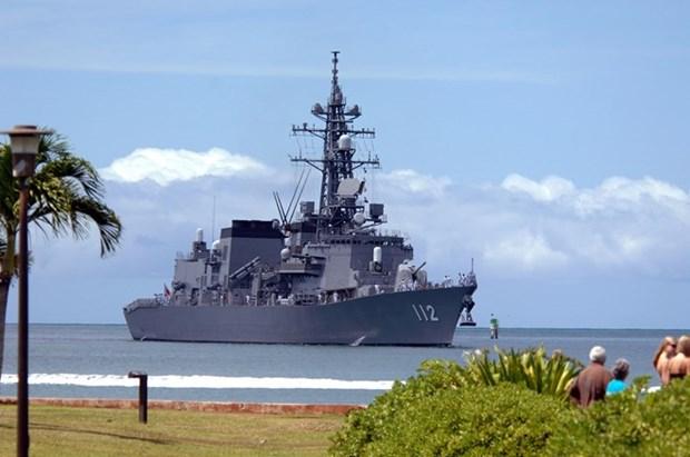 日本3艘军舰访问柬埔寨 hinh anh 1