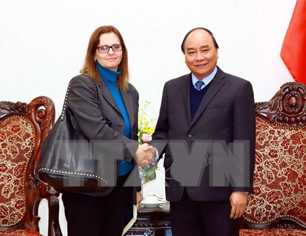 越南政府总理阮春福会见以色列驻越大使 hinh anh 1